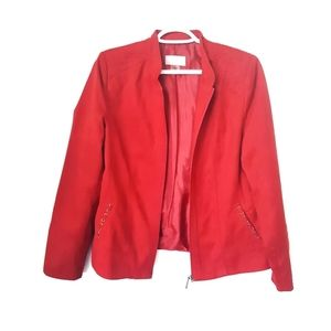 """TanJay Red """"Suede"""" Jacket"""